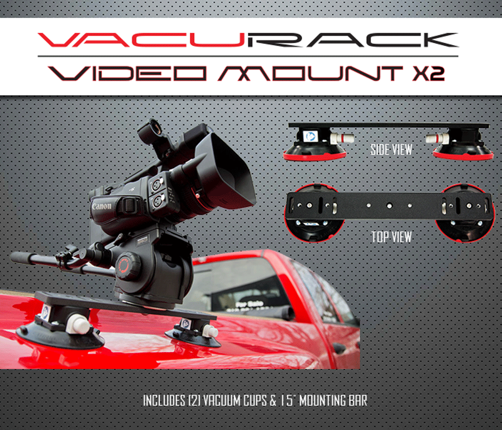 Video Mount X2 by VacuRack