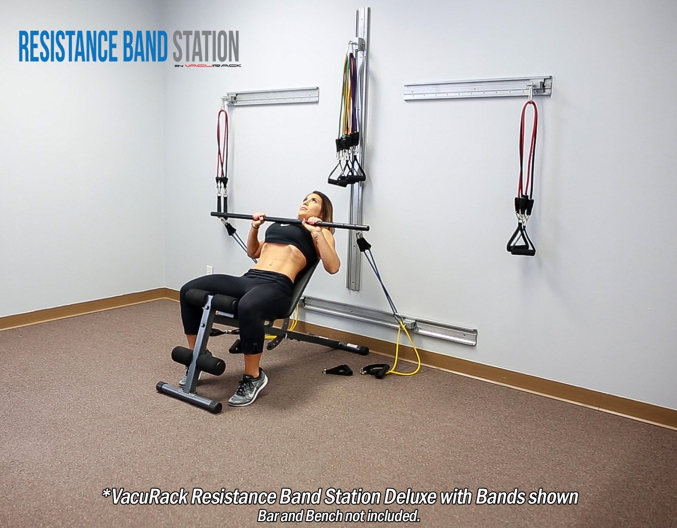 Vacurack Resistance Band Station Deluxe With Bands Vacurack