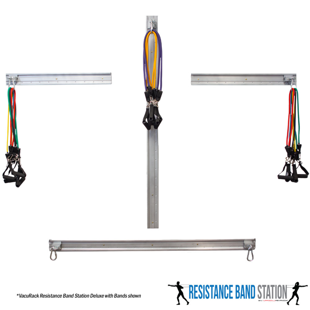 Workout Metal Bands: VacuRack Resistance Band Station (Deluxe With Bands